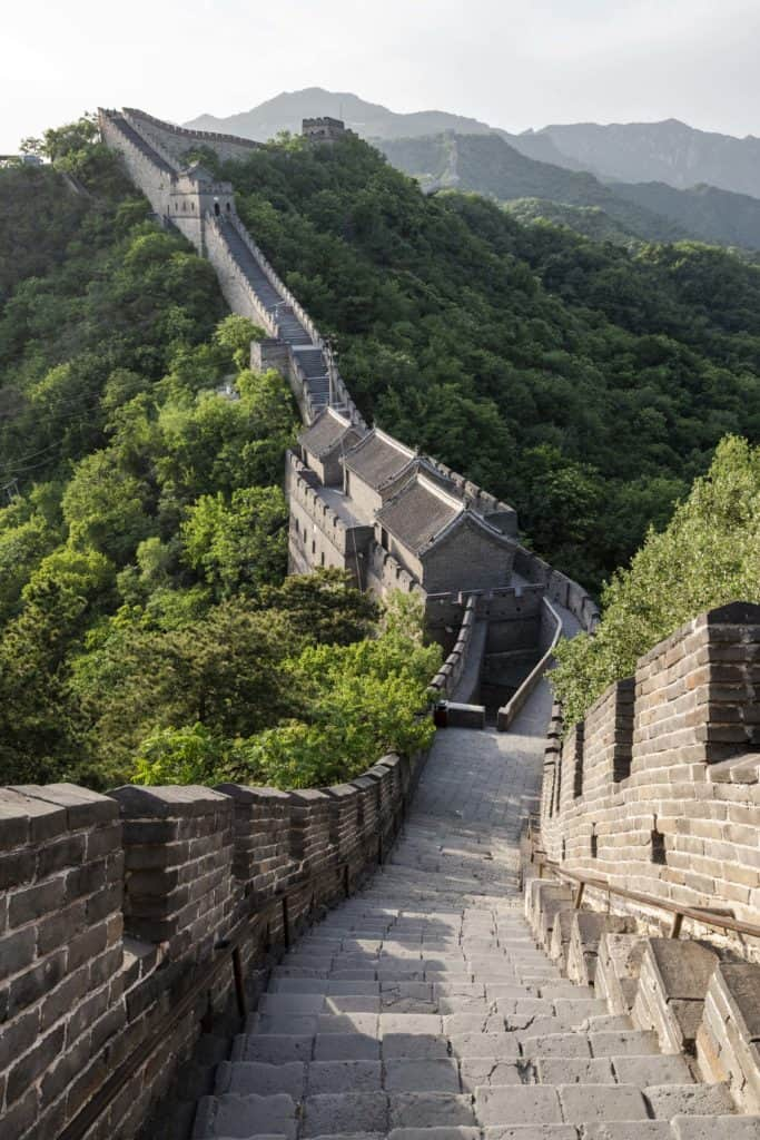 A section of the Great Wall, built more than 400 years ago to keep out Manchu invaders
