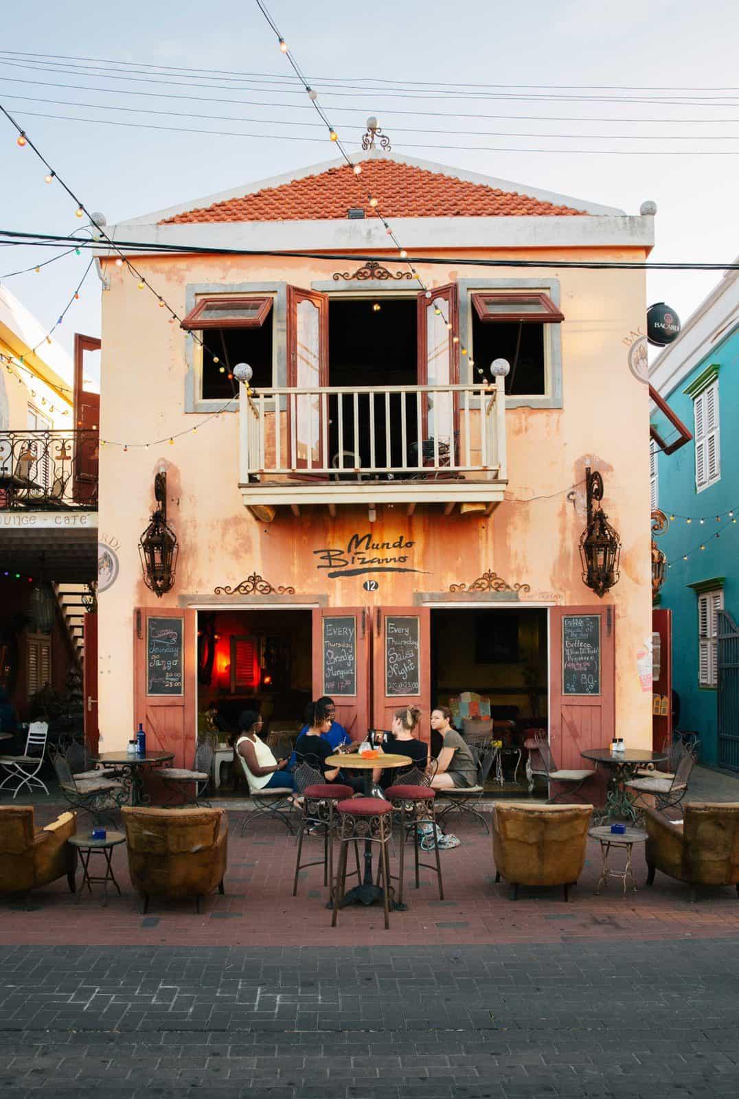 A colorful restaurant in Willemstad's Pietermaai District