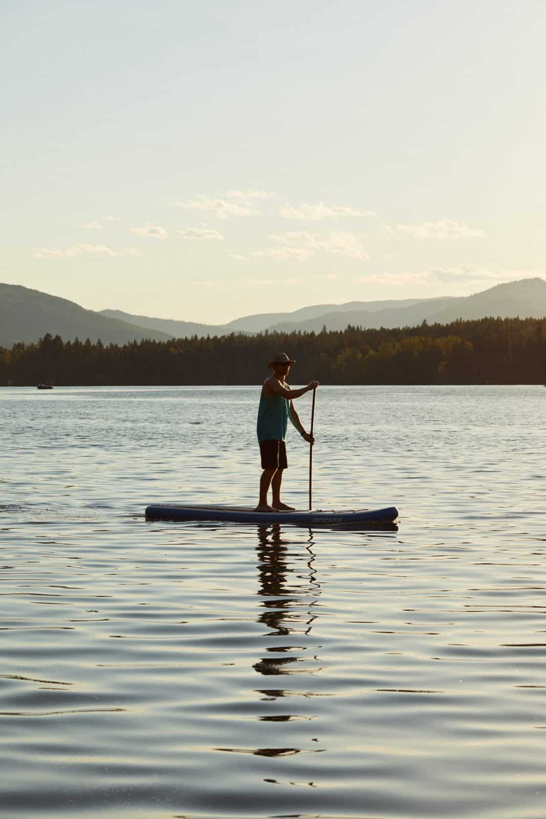 Paddleboarding in Glacier National Park