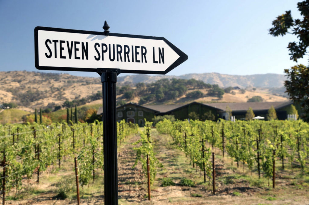 A quirky sign at the Clos du Val winery in Napa