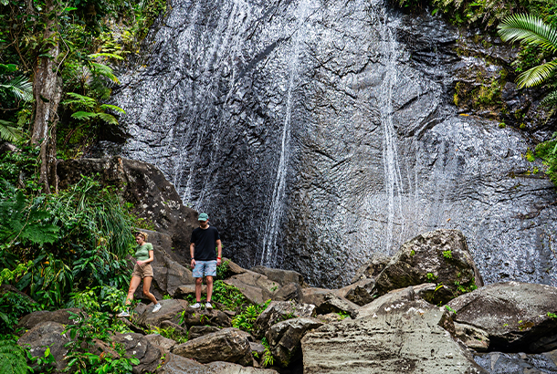 A waterfall in El Yunque National Forest